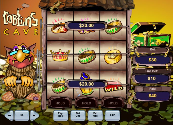 Playtech-pelifirman Goblin's Cave -kolikkopelissä palautusprosentti on jopa 99,32 %